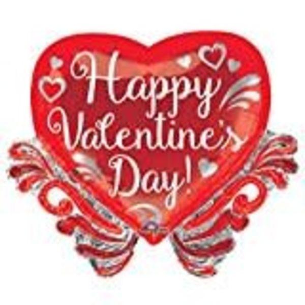 **Fancy Swirls Valentine Jumbo Mylar Balloon