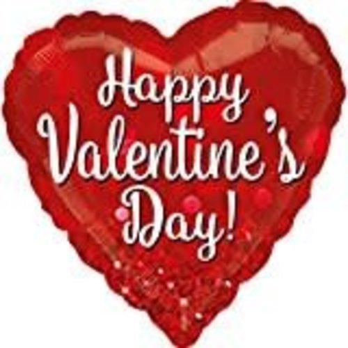 **Valentine Sparkle Jumbo Mylar Balloon