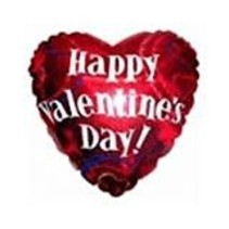 **Happy Valentine's Day Heart Shape Mylar