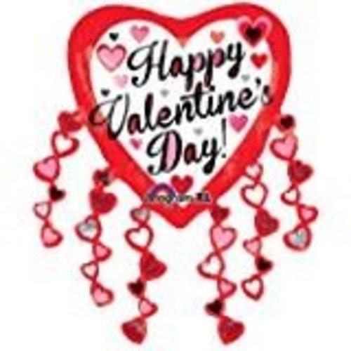 **Valentine Jumbo Streamer Mylar Balloon