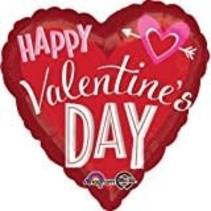 **Jumbo Heart Valentine Mylar Balloon