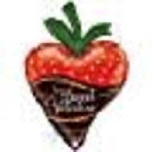 **Chocolate Dipped Strawberry Jumbo Valentine Mylar Balloon