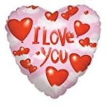 *Hearts and Clouds Love Heart Shape Mylar Balloon