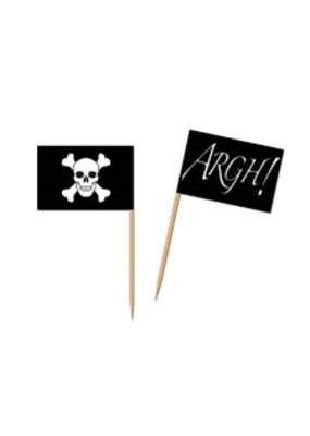 ****Pirate Flag Picks 50ct