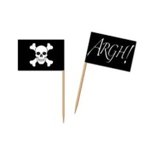 *Pirate Flag Picks 50ct