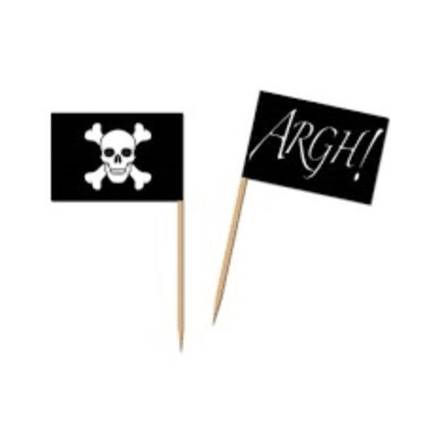*Pirate Flag Picks 50ct