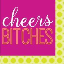 Cheers Bitches Beverage Napkin