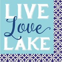 Live, Love, Lake Beverage Napkin