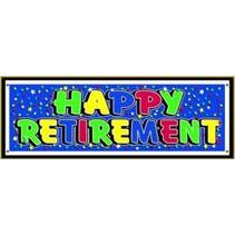 ***Retirement Banner Blue