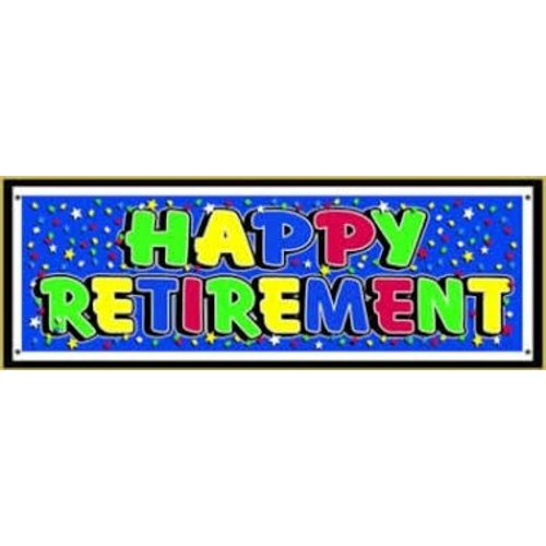 *Retirement Banner Blue