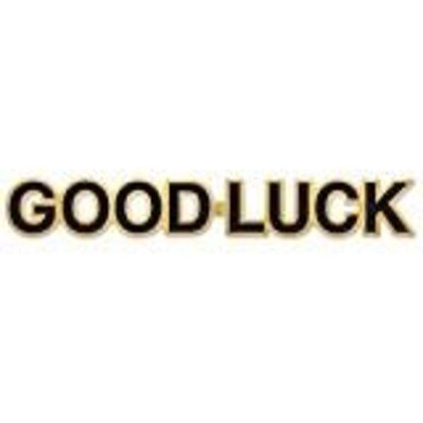 """*Good Luck Black & Gold 35"""" Foil Streamer"""