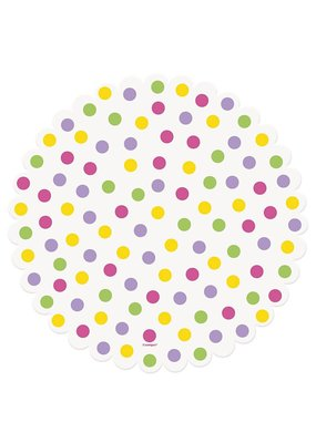 ****Bright Polka Dot Doilies 16ct