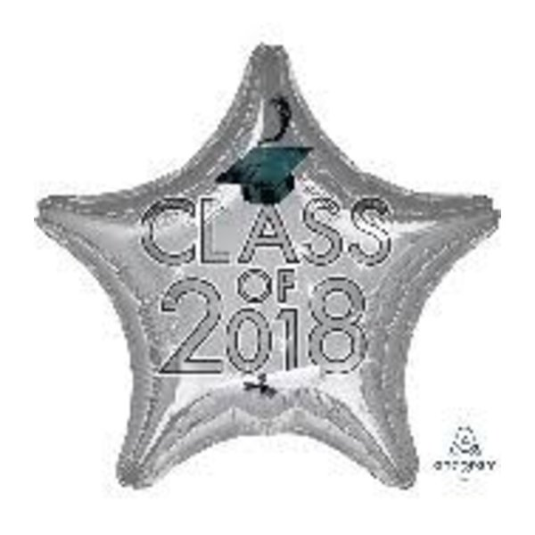 *Class of 2018 Silver Star Graduation Mylar Balloon
