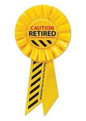 *Retired Caution Yellow Rosette