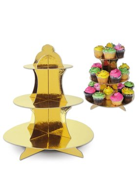 ****Gold Metallic Cupcake Stand