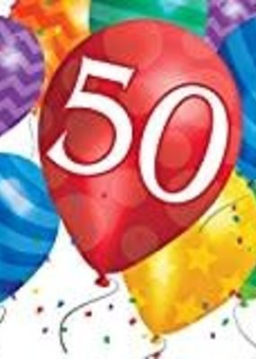 ***Balloon Blast 50th Lunch Napkins 16ct