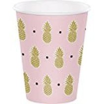 ***Pineapple Wedding 12oz Hot/Cold Cups 8ct