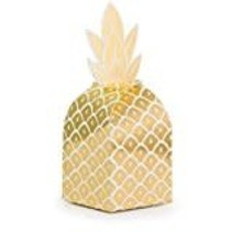 ***Pineapple Wedding Foil Favor Boxes 8ct