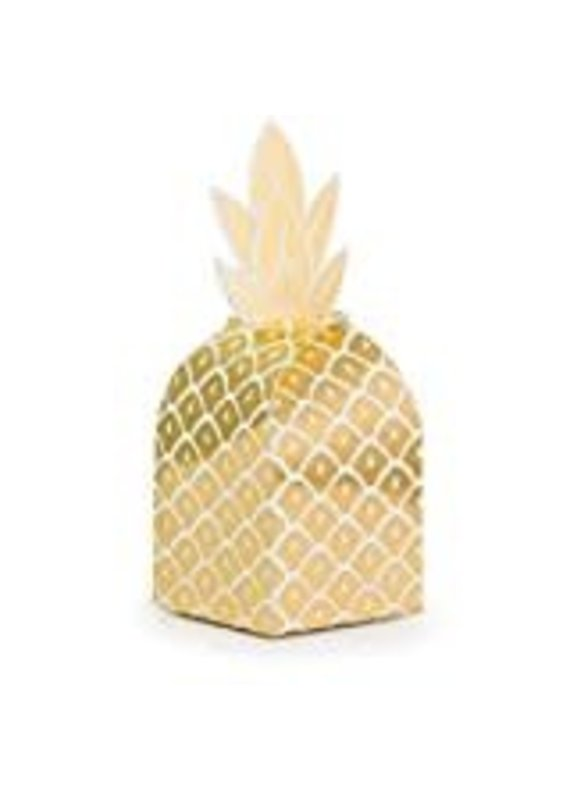 *****Pineapple Wedding Foil Favor Boxes 8ct