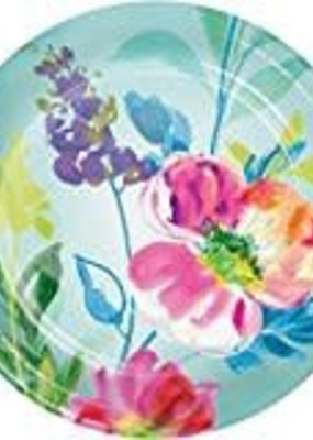 """*Painterly Floral 7"""" plates 8ct"""