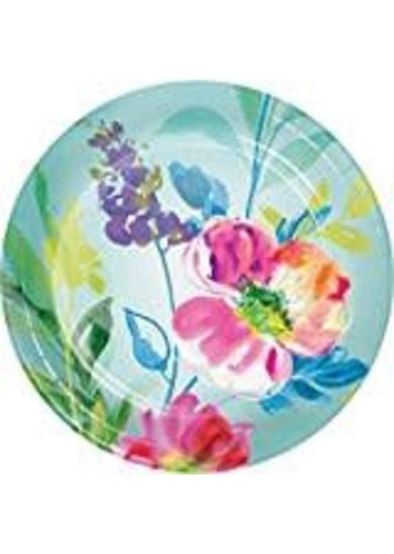"""*****Painterly Floral 7"""" plates 8ct"""