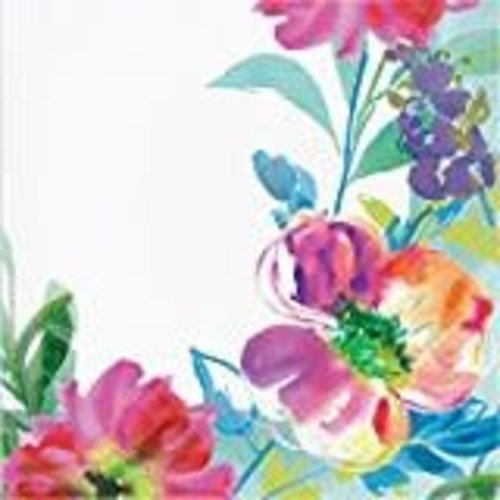 Painterly Floral Lunch Napkin 16ct