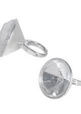 *Diamond Ring 6ct Plastic Party Favors
