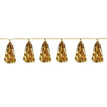 ***Metallic Tassel Garland Gold 8ft