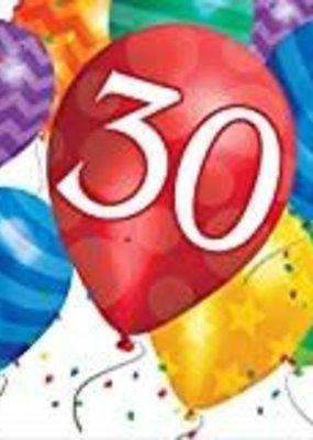 ***Balloon Blast 30th Lunch Napkins 16ct