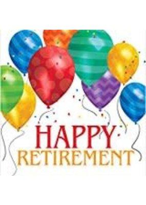 ***Happy Retirement Balloon Blast Lunch Napkin