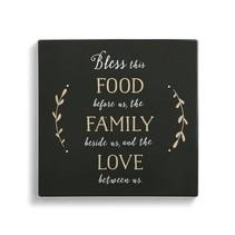 Trivet Bless this Food w/ Cork Conversion Chart