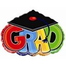 """*Grad Jumbo 28"""" Cap Shape Mylar Balloon"""