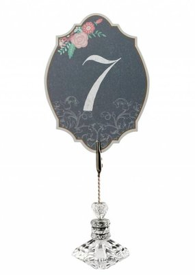 Chalkboard Floral Table Numbers
