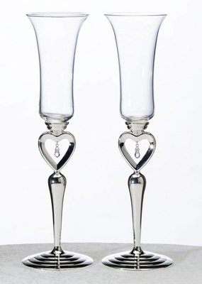 ***Dangling Jewel Toasting Glasses
