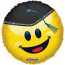 "*Grad Smile 18"" Mylar Balloon"