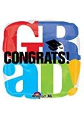 ***Grad Congrats! Mylar Balloon