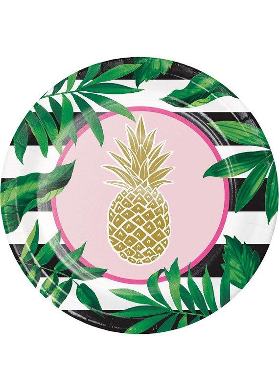 "****Pineapple Wedding 10"" Banquet Plate 8ct"