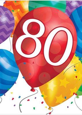 ***Balloon Blast 80th Lunch Napkins 16ct