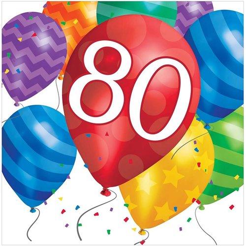 Balloon Blast 80 Lunch Napkin 16ct