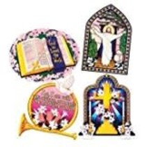 "*Easter Religious 16"" Cutouts 4ct"