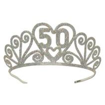 ***50 Glittered Metal Tiara