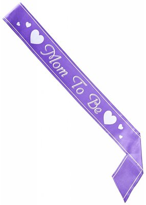 Mom to Be Purple Sash