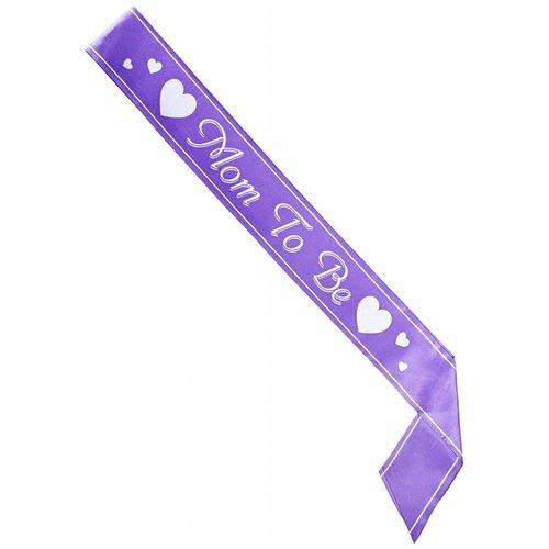 Mom to Be Purple Sash