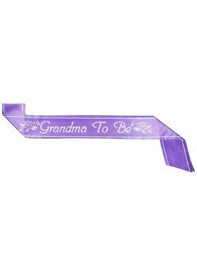 Purple Grandma To Be Sash