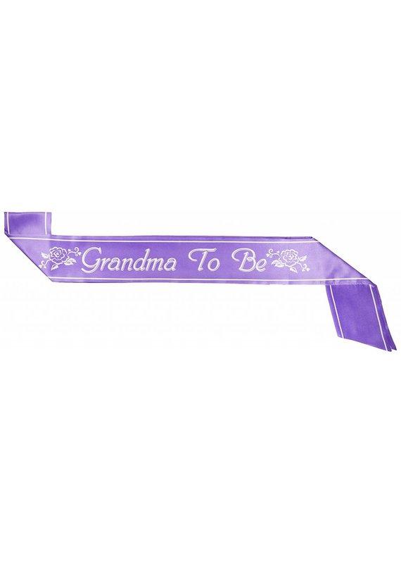 Purple Grandma To Be Sash