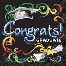 Chalkboard Graduation Beverage Napkins
