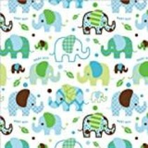 "*Baby Boy Elephant Roll Wrap 30"" x 5ft"