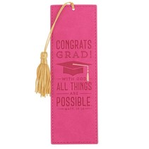 All Things Are Possible Graduation Bookmark