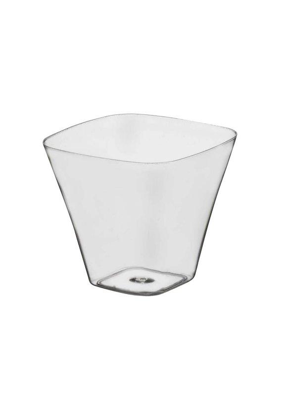 ***Mini Curved Square 3.5oz Cups 40ct
