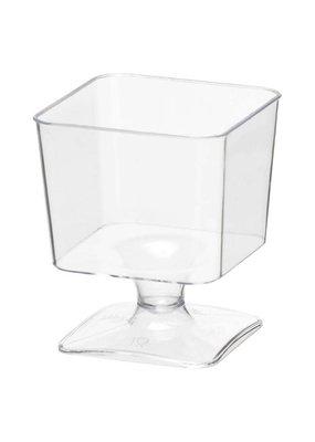 ***Mini Square 2oz Cups With Stem 20ct
